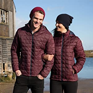 Box Quilted Warm Hooded Coat