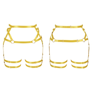 Harness Garter Belt+Orange yellow