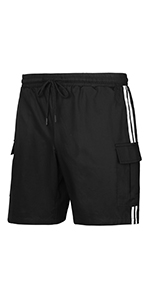 Black side two vertical shorts