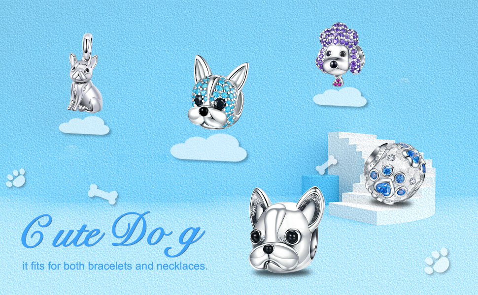 dog charms for pandora bracelets