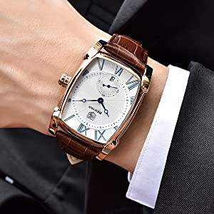 Men's rectangular watch