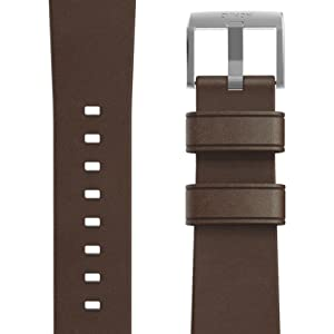 Nomad Modern Strap for Apple Watch 44mm/42mm Rustic Brown Horween Leather Silver Hardware