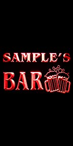 ADVPRO LED neon sign Personalized home bar beer  fonts text clear traditional bright light
