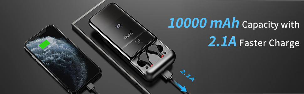 10000 mah  charging case as power bank