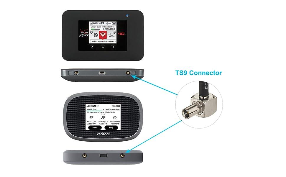2 Pack 4G LTE 3dbi Soft Whip External TS9 Antenna Wifi Router Hotspot Compatible