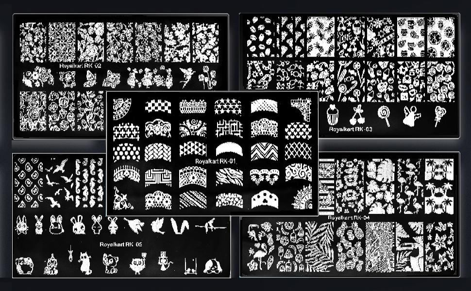 nail art design plates