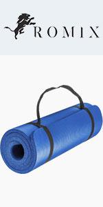 ROMIX Esterilla Yoga Antideslizante, 15MM Alta Densidad ...