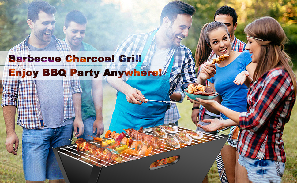 bbq charcoal grill folding and portable