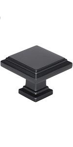 Black Square Knobs