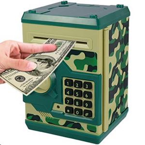 Nrpfell Juguete de Hucha Digital para Ni?Os Caja de Dinero Caja de Dep/óSito de Ahorro Hucha Electr/óNico Ni?O Chico Carro de Efectivo Cami/óN Seguro de Monedas Negro
