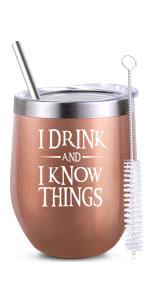 gift for mom women girl birthday christmas female best friend wine glass tumbler gift
