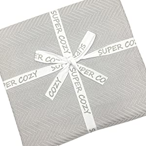 "Details about  /SUPER COZY 100/% bamboo fiber blanket QUEEN SIZE 86 x 86/"" BLUE"