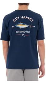 guy harvey, short sleeve top, pocket tee, fishing top, casual tees, mens fishing shirt, men apparel