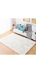 faux fsheepskin fur rug