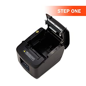 Receipt Printer, 80MM USB LAN Ethernet Pos Thermal Kitchen Printer, MUNBYN Windows Mac Printer with Auto Cutter Support DHCP Auto Set IP Address