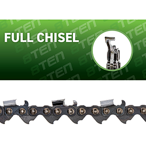 8TEN Chainsaw Chain Safety Full Chisel