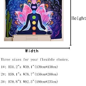 Colorful Chakra Mandala Tapestry Wall Hanging