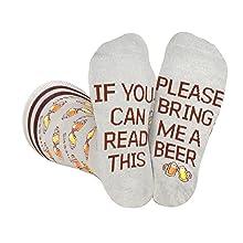 bring get me beer socks men women gift beer lover novelty fun