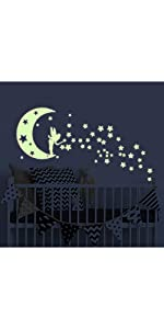 Moon Fairy glow in the dark wall stickers
