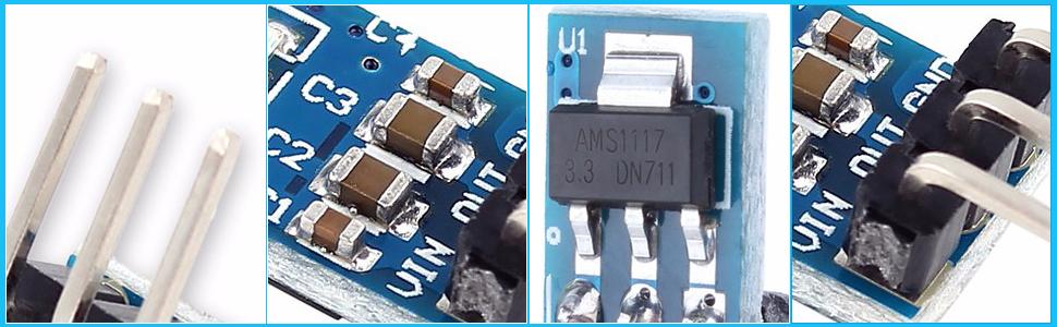 10 Stück AMS1117-3.3 Spannungsregler 3.3V 0.8A SOT-223
