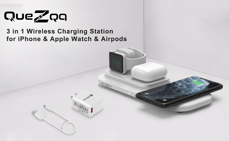 wireless charging pad 3 in 1 wireless charging dock station for apple products