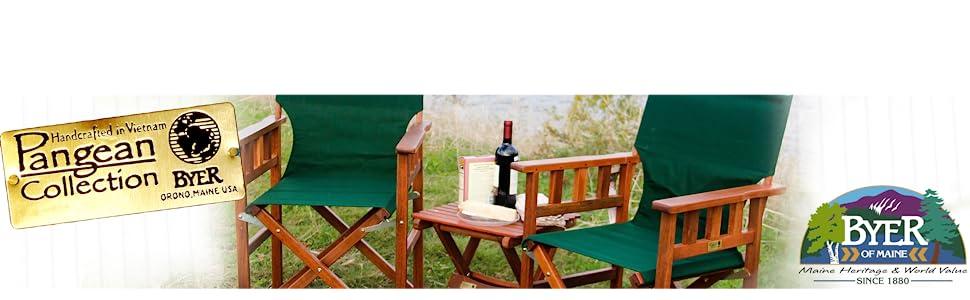 pangean logo byer of maine furniture outdoor backyard patio camping indoor set wooden wood keruig