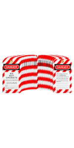 TRADESAFE Lockout Tagout Tag - 30 pack - Nylon - With Zip Ties