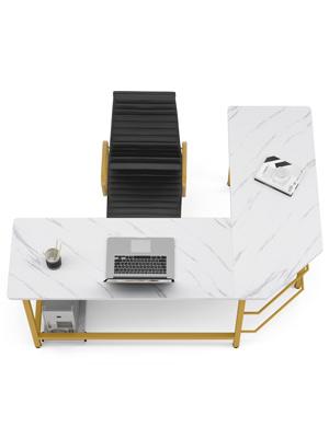l shaped computer desk, corner desk space saving