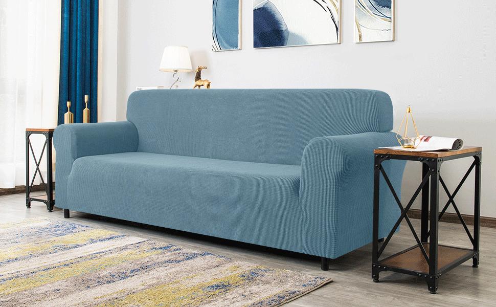 smoky blue sofa cover