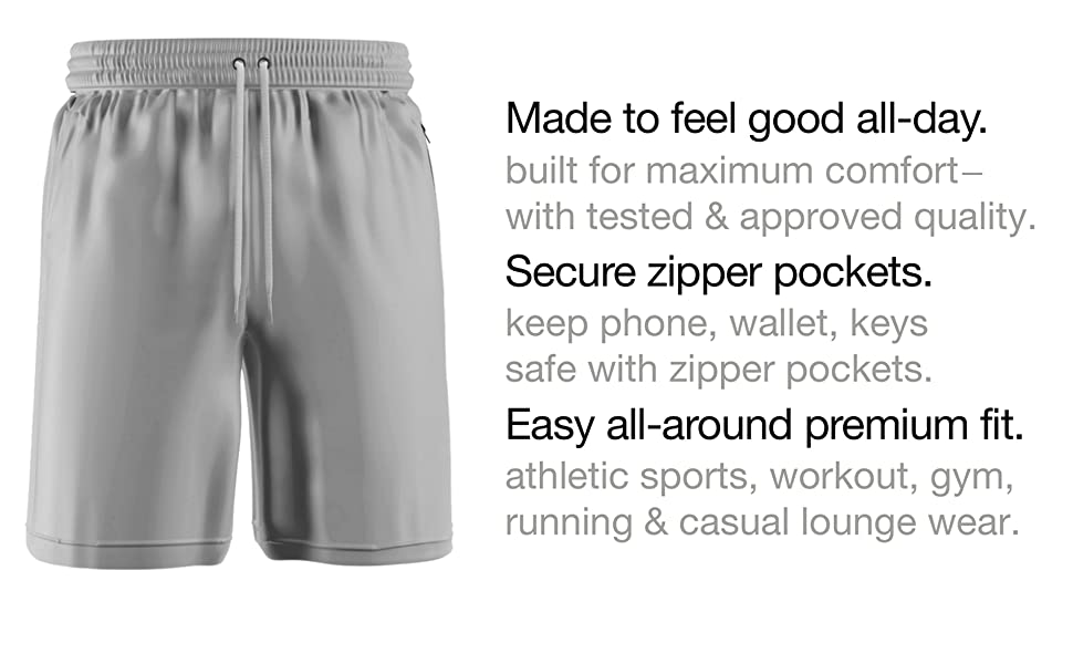 Men's Basketball Shorts | Athletic Sports Workout 9quot; Gym Shorts for Men with Pockets - Comfort 360°