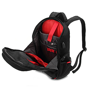 mens outdoor laptop backpack for gaming motorcycle travel college work 15 15.6 17 inch