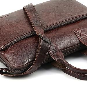 Messenger Office Laptop Handle Leather Laptop Bag
