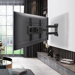 Eono by Amazon - Soporte TV Pared Giratorio y Inclinable para la Mayoría de 26–55 Pulgadas (66cm-140cm) LED, LCD, y OLED Televisores hasta VESA 400x400mm y 27kg, con Tacos Fischer, Brazo TV
