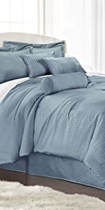 Lex 7-Piece Comforter Set, Spa Blue