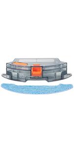 BG700 Saugroboter Wassertank f/ür Wischfunktion Bagotte BG600 Staubsauger Roboter Wassertank