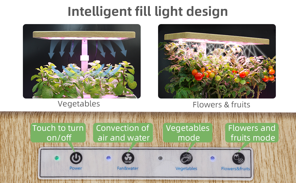 Starter Kit with LED Grow Light, Fan and Water Pump