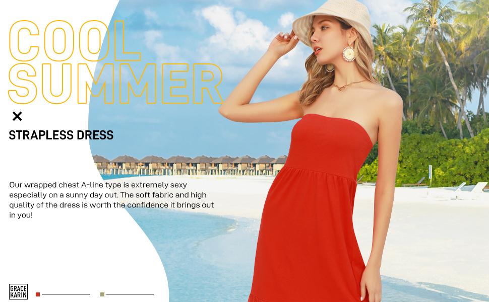 women strapless dress
