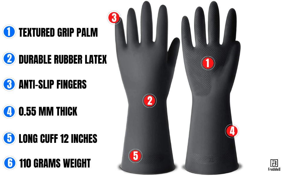 heavy-duty agricultural gardening garden rubber gloves frabble8 frabble disposable plastic