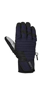 PONTAPES(ポンタペス) スキー グローブ メンズ レディース 握りやすいアーチ設計 S-XLサイズ ウェア生地使用 耐水圧10000mm PG-102S