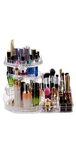 Diamond combination rotating makeup organizer