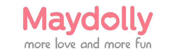 Maydolly logo more love and more fun for kids  shower cap  bath visor