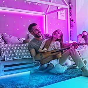 Hue Neon Lights Music & Microphone Functions