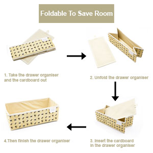 Foldable Drawer Organiser