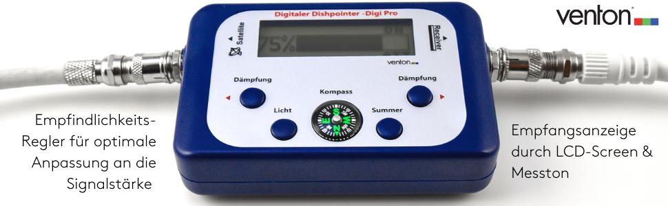 Venton dish Pointer Digi Pro, buscador de satélites