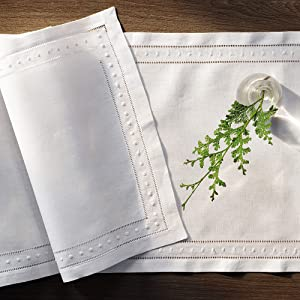 European flax linen table runners and napkins sustainable white fabric washable stain resistance