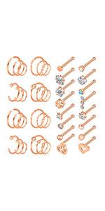 nose studs piercing hoop rings