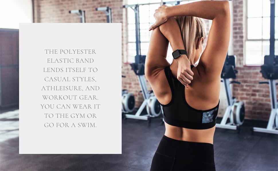 Fitbit Versa Bands Elastic Scrunchie Strap Women Lite Special Edition Bracelet Wristband Christmas