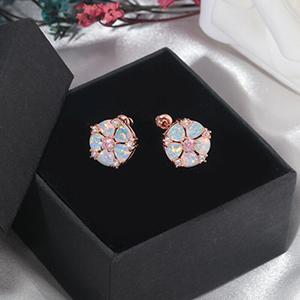 rose gold flower earrings for girls