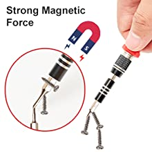 Magnetic screwdriver bits