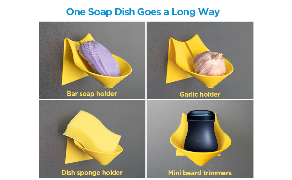 One soap dish goes a long way